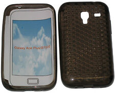 For Samsung Galaxy Ace Plus GT S7500 Pattern Gel Case Protector Cover Black New