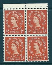 SB5 ½d x 4 Wilding booklet pane perf type P UNMOUNTED MNT/MNH