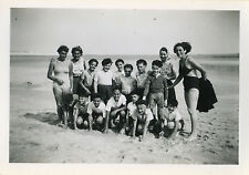 PHOTO ANCIENNE - VINTAGE SNAPSHOT - SCOUT SCOUTISME GROUPE MER PLAGE 1946 12