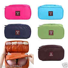 Travel Bra Underwear Lingerie Cosmetic Toiletry Pouch Bag Case Organizer-Fusha