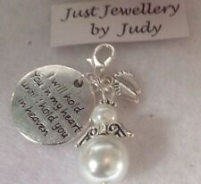 Baby Memorial Charm - Baby Loss / Miscarriage / Memory Box Keepsake  Heart Angel