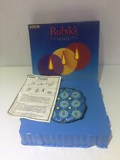 100% COMPLETE BOXED RUBIKS CLOCK - VINTAGE  1980'S MATCHBOX PUZZLE GAME & INSTR