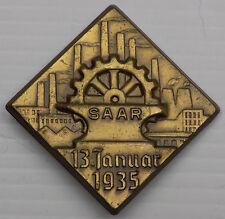 WW2 Original German WHW Pin - Saar 1935