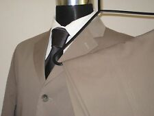 "River Island, 3 Button, Dark Beige, Cotton Suit.  Size 38""R- 34W 31.5L Pants"
