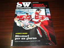SPORT WEEK n.10 del 16.3.2013 cover ALONSO MASSA, SPECIALE FORMULA 1