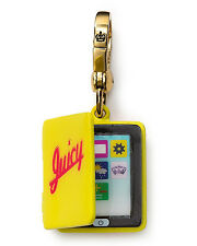 *NEW*JUICY COUTURE ELECTRONIC TABLET GOLD TOTE BAG GIFT CHARM YELLOW PINK $52