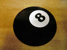 Magic 8 Ball - vinyl sticker / decal - 100mm pool ball - BLACK + WHITE