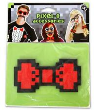 Pixel 8 Accessories NEW 8-Bit NERDY Red BOW TIE Retro GAMER Costume Prop FUN