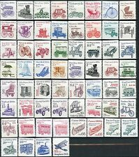 Set of 60 Different Transportation Coils MNH Scott's Range from 1897 to 2468