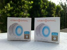 2 NEW Clarisonic Replacement Brush Head DEEP PORE Cleansing in Box (TWO Pack)