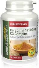 SimplySupplements Curcumin 12000mg C3 Complex 90 Capsules (E713)