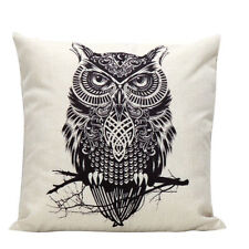 U.S. SELLER Vintage Owl Home Bed Decor Cushion Pillow Throw Cover Case
