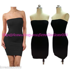 Sexy Casual Club Party Tube Strapless Sheath Shift Slim Fit Bodycon Dress LARGE