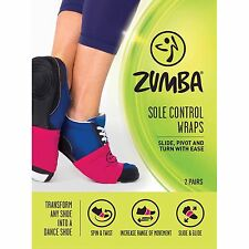 Zumba ~ Sole Control Wraps - 2 pairs - Pink & Black ~  Free Shipping