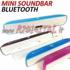 SOUNDBAR MINI BLUETOOTH USB PER TV MONITOR PC SMARTPHONE TABLET CASSE SPEAKER