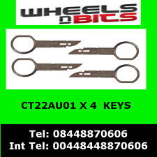 CT22AU01 Audi Chorus Concert Symphony Car Stereo Radio Removal Release Keys