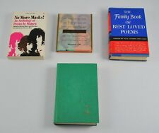 Lot Of 4 Poetry Books No More Masks Best Loved Poems Children's Hour BB5G2