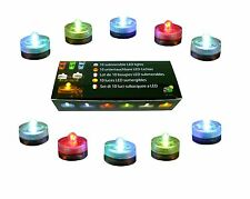 10 IMPERMEABLE CAMBIA DE COLOR LED SPA MUY BRILLANTE VELAS PARA FIESTA