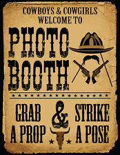 DIY DIGITAL Cowboy Vintage Photo Booth sign props NO PHYSICAL ITEM