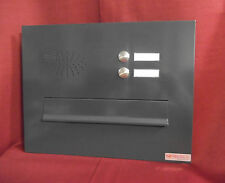Frontplatte Briefeinwurf Mauerdurchwurf anthrazit Anlage 300 2 Klingeln BEH106