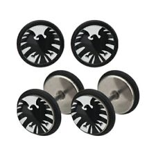 Body Accentz Earrings Rings Fake Iron man Eagle Cheater Plug 16 gauge - Sold as