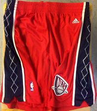 Adidas Authentic NBA Shorts Nets Team Red sz 36