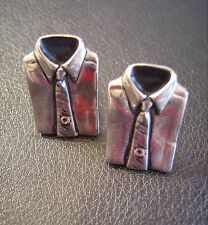 Vintage UNUSUAL Shirt & Tie Shaped Cufflinks Mid Century Modern