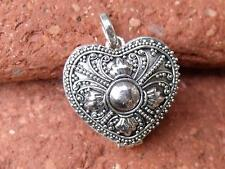 HEART SHAPED PRAYER BOX 925 SILVER PENDANT SILVERANDSOUL HANDCRAFTED JEWELLERY
