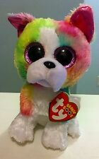 Isla Ty Beanie Boos 6 Inch - MWMT - multicolored dog - FREE SHIPPING