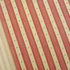 Petite Wovens ~ Rouge Noel Stripe fabric / quilting antique red Christmas mini