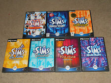 THE SIMS 1 DELUXE BASE GAME + 7 EXPANSION PACKS COMPLETE COLLECTION - PC BUNDLE