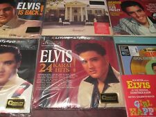 ELVIS PRESLEY AUDIOPHILE 45 SPEED 10 LP SET PLUS 33/13 LIVE MEMPHIS + GIRL HAPPY