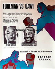 George Foreman VS. Dwight Muhammad qawi/originale on-site Boxe Combattere POSTER