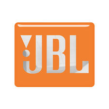 JBL Orange 2.2in x1.78in (56mm x 45mm) Chrome Domed Case Badge / Sticker Logo