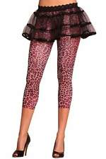 Sexy Lovely Day Lingerie Shiny Capri Leopard Print Leggings - One Size Fits Most