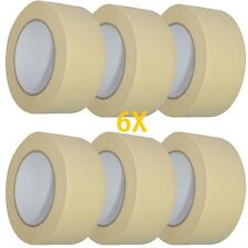 6X MASKING TAPE 50mm x 50m EASY TEAR DECORATING PAINTINGEasy Remove MASKING A054