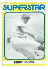 SANDY KOUFAX 1982 SUPERSTAR 1st Series #13 Tough! HOF