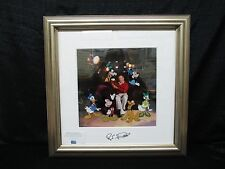 "Disney Cel ""Roy And Friends"" Mickey Minnie Donald Goofy Pluto Framed & Matted"