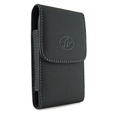 Motorola Droid X2 leather pouch with belt clip, work with otterbox defender case