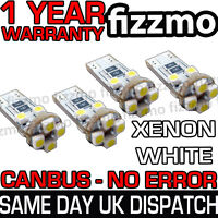 4 x 8 SMD LED 501 T10 W5W WEDGE CANBUS NO ERROR FREE XENON WHITE SIDE LIGHT BULB