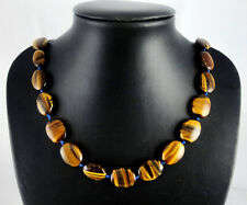 Natural tiger eyes agate Handmade Gemstone Jewellery Necklace