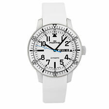 Fortis Diver White B-42 Automatic Men's Day-Date Watch 647.11.42 MSRP 1850