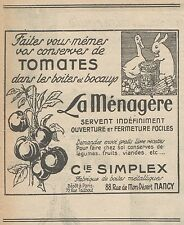 Z9560 Tomates - La Ménagère -  Pubblicità d'epoca - 1927 Old advertising