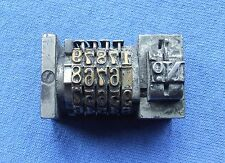 Adana Letterpress Printing LEDA 50 REVERSE NUMBERING BOX working order 5 Digit