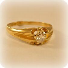 Victorian 18 carat Gold Old-cut Diamond Ring, hallmarked London 1897
