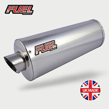 Honda Transalp XL600V Slash Polished Stainless Oval Mini UK Street Legal Exhaust
