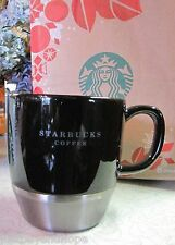 2006 Starbucks Black Ceramic & Stainless Steel Urban Desk Mug 10 oz