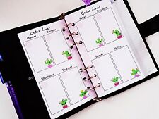 undated Personal size planner insert week on two page  filofax day-timer kikki k