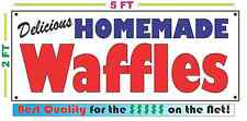 HOMEMADE WAFFLES BANNER Sign NEW Larger Size Best Quality for the $$$ BAKERY