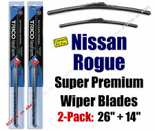 Top-of-the-line Wipers 2pk Front Only - fit 2008-2013 Nissan Rogue - 16260/16140